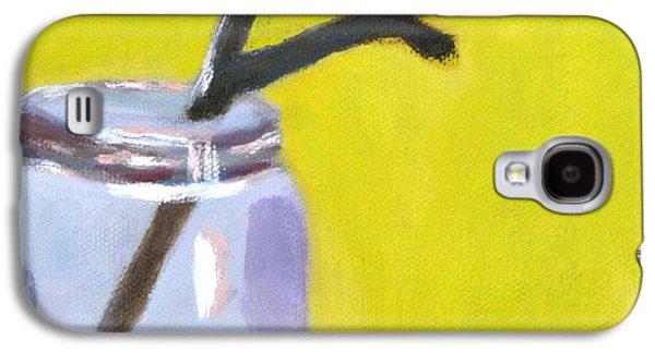 Brown Twig Mason Jar Galaxy S4 Case by Molly Fisk
