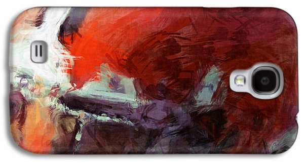 Browns Art Helmet Abstract Galaxy S4 Case