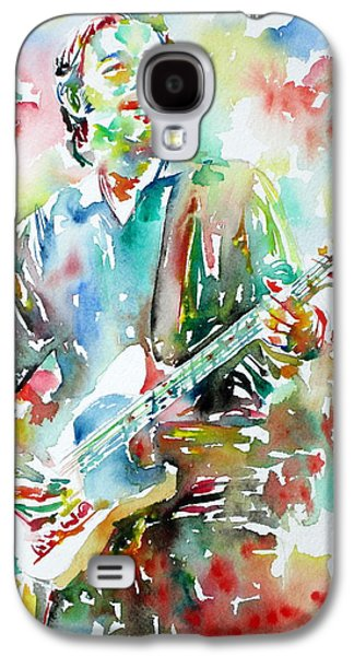 Bruce Springsteen Playing The Guitar Watercolor Portrait.3 Galaxy S4 Case