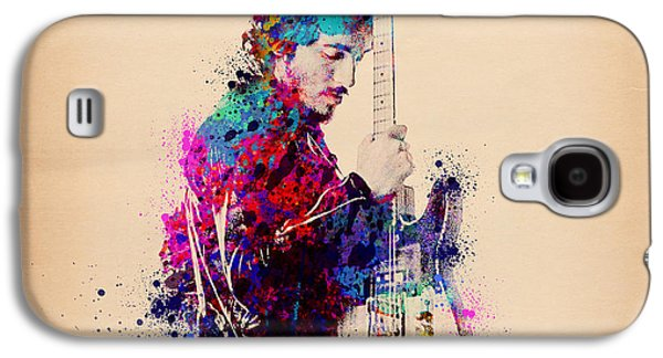 Bruce Springsteen Splats And Guitar Galaxy S4 Case