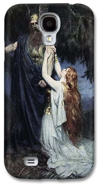 Brunhilde Knelt At His Feet, From The Galaxy S4 Case by Ferdinand Leeke