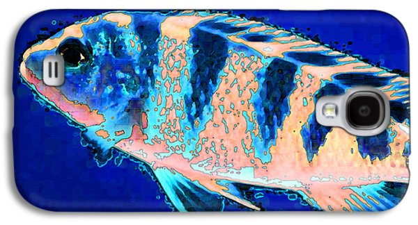 Bubbles - Fish Art By Sharon Cummings Galaxy S4 Case by Sharon Cummings