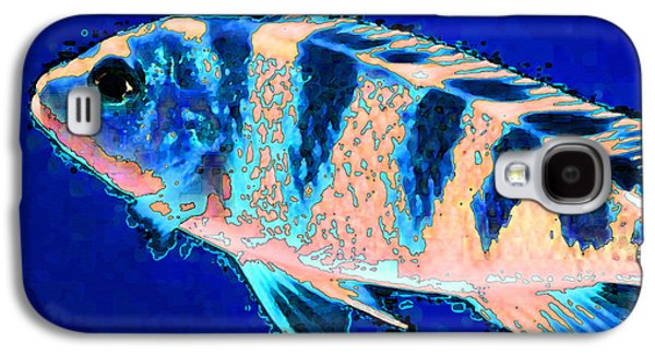 Bubbles - Fish Art By Sharon Cummings Galaxy S4 Case