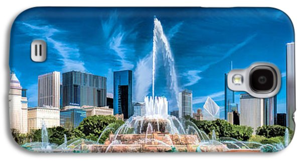 Buckingham Fountain Skyline Panorama Galaxy S4 Case