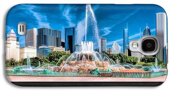 Buckingham Fountain Skyline Panorama Poster Galaxy S4 Case