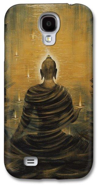 Soul Paintings Galaxy S4 Cases - Buddha. Nirvana ocean Galaxy S4 Case by Vrindavan Das