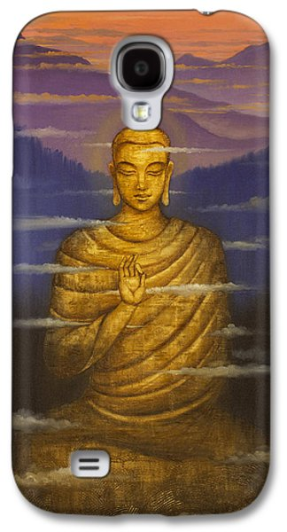 Buddha. Passing Clouds Galaxy S4 Case by Vrindavan Das