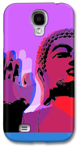 Buddha Pop Art - 4 Panels Galaxy S4 Case by Jean luc Comperat