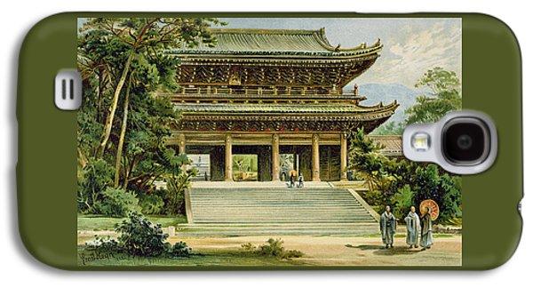 Buddhist Temple At Kyoto, Japan Galaxy S4 Case by Ernst Heyn