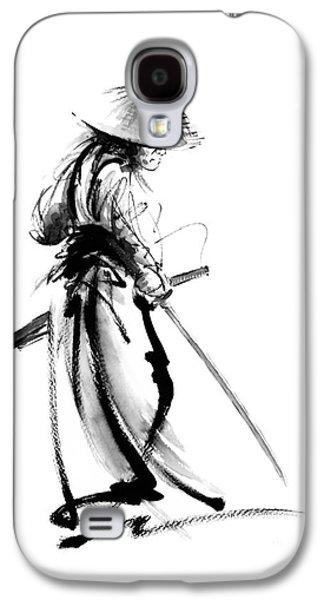 Samurai With A Sword. Ronin - Lone Wolf. Galaxy S4 Case by Mariusz Szmerdt