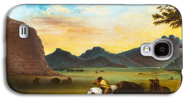 Buffalo Hunt Galaxy S4 Case by Alfred Jacob Miller