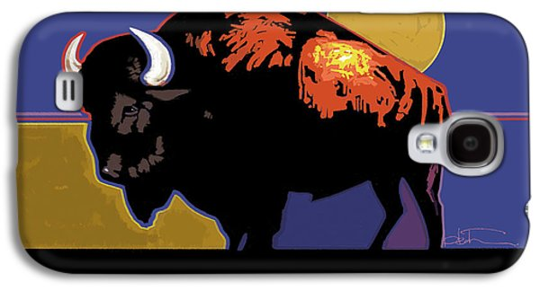 Buffalo Moon Galaxy S4 Case by R Mark Heath