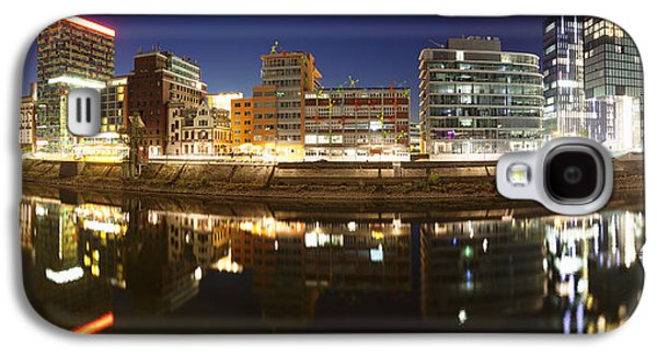Buildings Lit Up At Dusk, Colorium Galaxy S4 Case by Panoramic Images