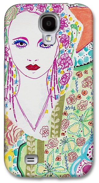 Bulgarian Folk Girl Galaxy S4 Case by Rosalina Bojadschijew