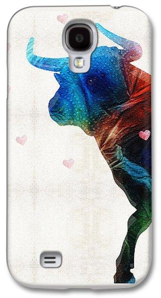 Bull Art - Love A Bull 2 - By Sharon Cummings Galaxy S4 Case