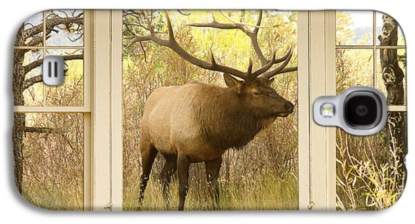 Bull Elk Window View Galaxy S4 Case by James BO  Insogna
