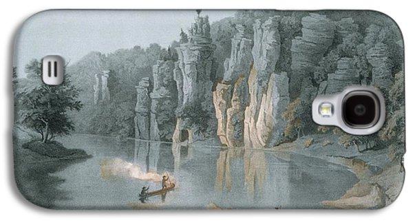 Bullard Rock On The New River Galaxy S4 Case by Edward Beyer
