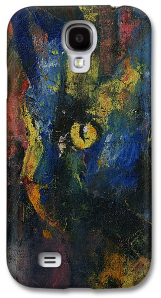 Blue Cat Galaxy S4 Case by Michael Creese