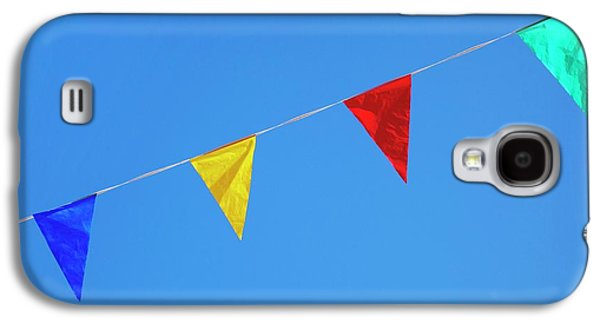Bunting Galaxy S4 Case - Bunting Against A Blue Sky by Cordelia Molloy