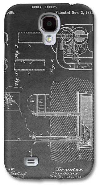 Burial Casket Galaxy S4 Case by Dan Sproul