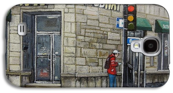 Bus Stop On Monk Galaxy S4 Case by Reb Frost