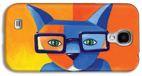 Cat Galaxy S4 Case - Business Cat by Mike Lawrence