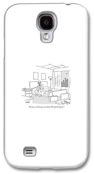 Travel Galaxy S4 Case - Businessman Sitting On A Bed In Hotel Room by Jack Ziegler