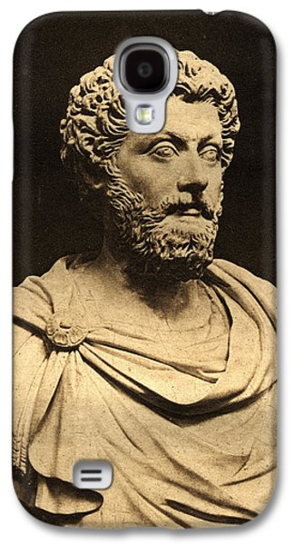 Bust Of Marcus Aurelius 121-80 Ad Marble Galaxy S4 Case by English Photographer