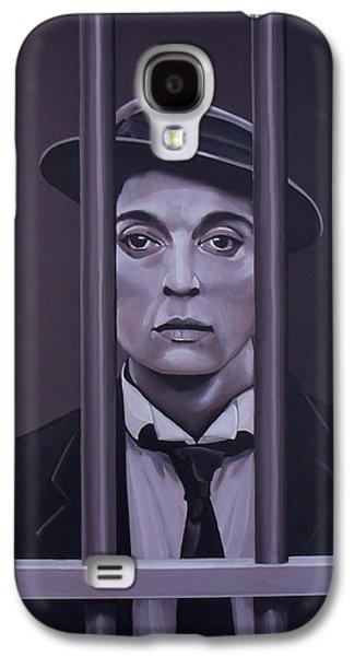 Buster Keaton Painting Galaxy S4 Case by Paul Meijering