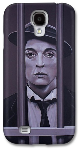 Buster Keaton Painting Galaxy S4 Case by Paul Meijering
