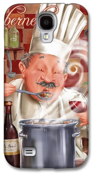 Busy Chef With Cabernet Galaxy S4 Case