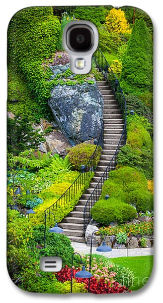 Butchart Gardens Stairs Galaxy S4 Case by Inge Johnsson