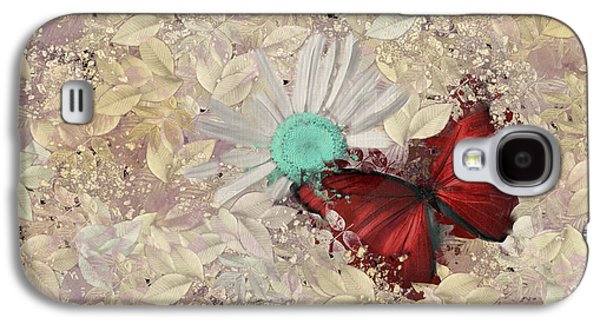 Butterfly And Daisy - S3001a Galaxy S4 Case
