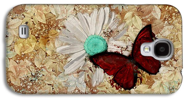 Butterfly And Daisy - S3003c Galaxy S4 Case