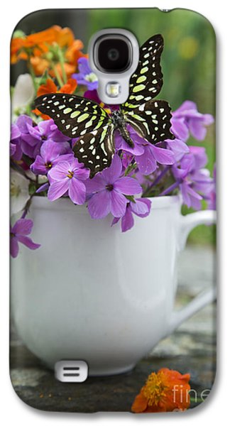 Butterfly And Wildflowers Galaxy S4 Case