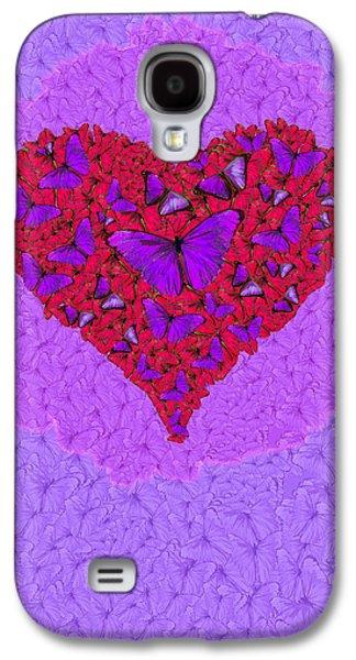 Butterfly Heart Galaxy S4 Case by Alixandra Mullins