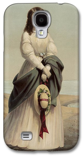By The Sea Shore Circa 1868 Galaxy S4 Case by Aged Pixel