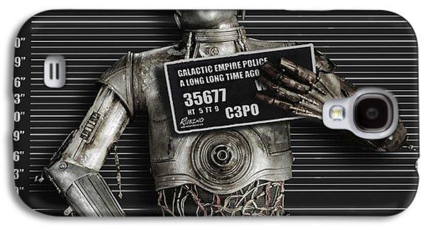 C-3po Mug Shot Galaxy S4 Case by Tony Rubino