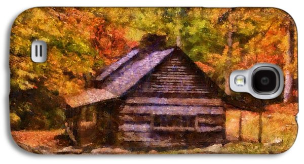 Cabin In Autumn Galaxy S4 Case