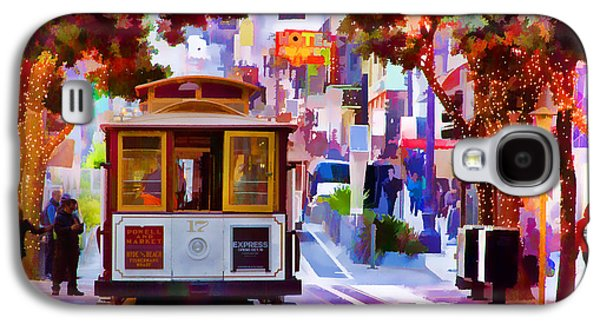 Cable Car At The Powell Street Turnaround Galaxy S4 Case by Bill Gallagher