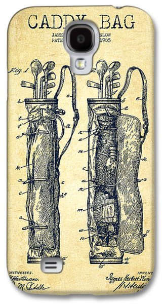 Caddy Bag Patent Drawing From 1905 - Vintage Galaxy S4 Case