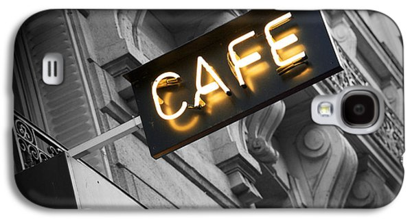 Cafe Sign Galaxy S4 Case by Chevy Fleet