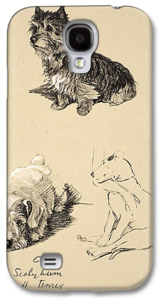 Cairn, Sealyham And Bull Terrier, 1930 Galaxy S4 Case by Cecil Charles Windsor Aldin