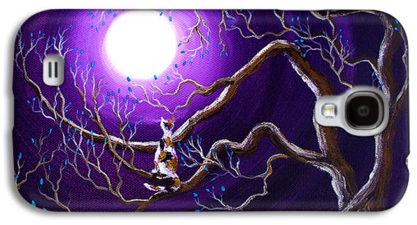 Calico Cat In Haunted Tree Galaxy S4 Case by Laura Iverson