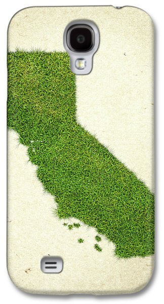 California Grass Map Galaxy S4 Case by Aged Pixel