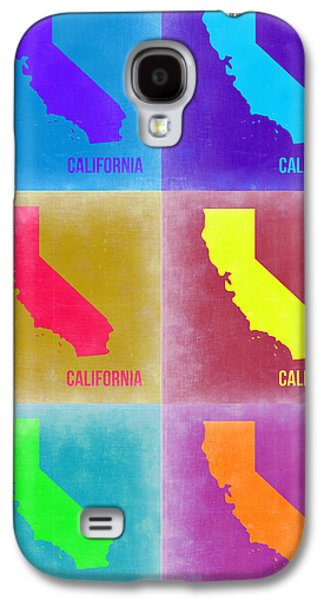 California Pop Art Map 2 Galaxy S4 Case by Naxart Studio
