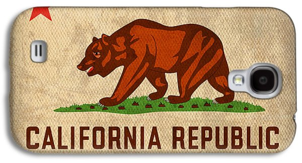 California State Flag Art On Worn Canvas Galaxy S4 Case by Design Turnpike