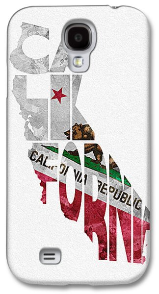 California Typographic Map Flag Galaxy S4 Case