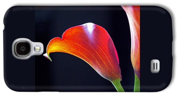 Calla Colors And Curves Galaxy S4 Case by Rona Black