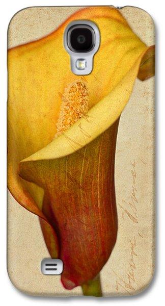 Calla Lily Vintage  Galaxy S4 Case by Heidi Smith